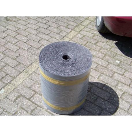 30 meter grijs oplegvilt 800 gram 80 mm breed
