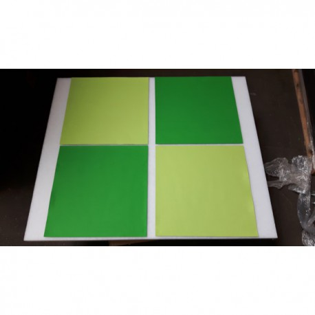 Donker groen vierkant vilt 49x49 cm